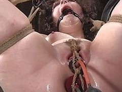 Yeah, Dixon is tied hard just the way we like it. She`s being used like a cheap bitch and hangs there with her legs spread. Look at her pussy and what`s happening with it. She needs a rougher punishment and more humiliation. Should we give her some more?
