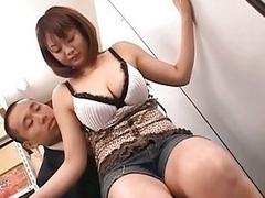 Japanese busty model titsjob