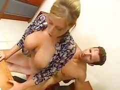 Blonde anal secretary