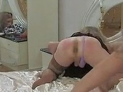 Clad in a dress sissy aches for a hawt after-party put on display a hottie