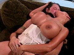 Surface readily obtainable this crazy brunette slut with such huge melons as she takes...