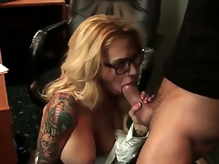 Stunning blow job sex action with Alan Stafford and Sarah Jessie - it is what would make you turned on. Busty tattooed woman with excellent body is going to suck before cunnilingus.