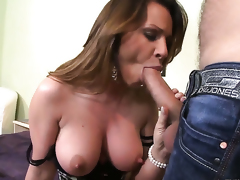 Pamela Smile is good at anal fucking and her hot bang buddy Ian Scott knows it after throat job