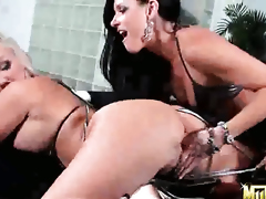 Blonde India Summer licking Molly Cavallis wet spot like it aint no thing in steamy lesbo act