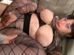 MaturesAndPantyhose Video: Caroline M and Morris