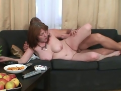 Young guy fuck his wife's mom