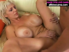 Massive tit blonde kayla gets pussy fucked hard
