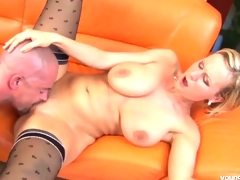 Juvenile Alice gets big tits cummed