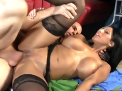 Hot mom takes a large dick in her cockhungry cunt