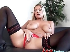 Devon Lee sensual tease approximately black stockings