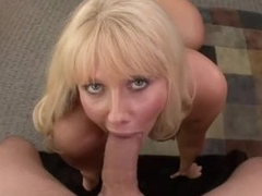 Mature tow-headed everywhere massive jugs gives sensual blowjob