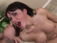 Big-titty Eva Karera is 1 Horny insatiable cum-drinker!