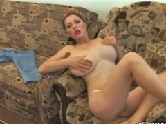 Biggest titties babe dildoing sex