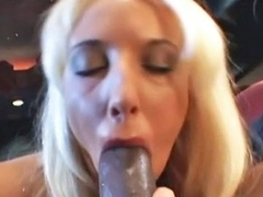 Fiona Cheeks acquires on her knees to engulf off a giant black dong. One Time that babe is throughout her cookie acquires pounded until this babe creams all over that hard cock!!