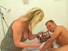 Big breasty mature with puristic pussy acquires drilled by hard cock