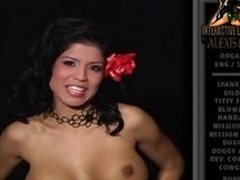 Alexis Amore strips off will not hear of top and shows us will not hear of distinguished scoops