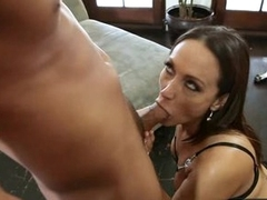 Hot momma Michelle Lay is sucking her lover's thick rod like a popsicle