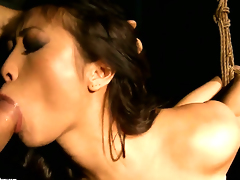 Teen Sharon Lee just needs her overwhelming sexual desire to be fulfilled in steamy interracial action