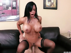 Jewels Jade with juicy billibongs takes Johnny Sinss cum loaded man meat in her moist spot