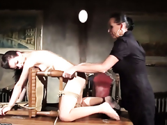 Blonde Mandy Bright shows lesbian sex tricks Salome with want