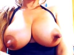 MILF amateur caught masturbating on web camera