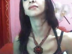 Sexually excited Transsexual Masturbate Her Cock
