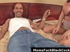 Big boobs milf Angelica receives facial from black monster cock
