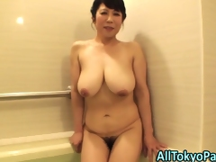 Blowing aged asian slut
