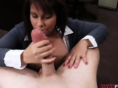 Hot loving wife will do anything for the specie for her hubby