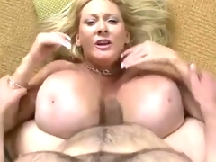 Mature babe with fake biggest melons get screwed