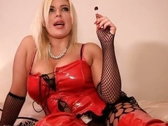 Lolly sucking blonde gets stuffed there her fishnets