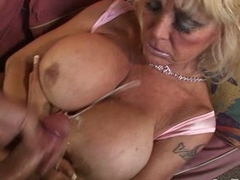 Cougar pounded with heavy cock with the addition of boastfully tits jizz covered