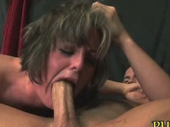 Pussy stuffed off out of one's mind dildo