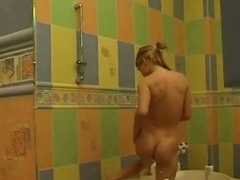 Tenager luring the shower