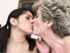 Teen with huge jugs and Aliz one as well as the other have great lesbian experience