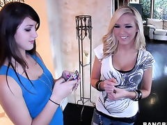 Bailey Lane with juicy butt acquires used like a fuck toy by sexually excited lesbian Dylan Riley