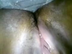 Indian slender whore masturbates on throne-room