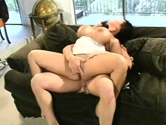 Voluptuous Asian milf Ava Devine has 3 dudes drilling her holes like she deserves