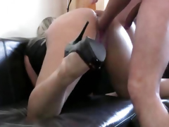 Brutally fisted and ass fucked amateur wife