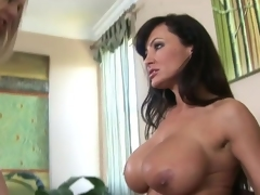 Julia Ann and Lisa Ann aged lesbie activity