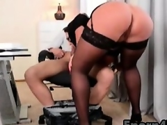 Big-tits sweethearts sucking stepbrother big cock