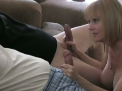 Melanie skyy does a threesome with two horny guys.