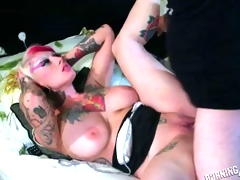 Large Titty Punk Hotty Getting Her Bawdy cleft Pounded