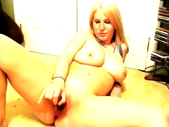 Sexybunny dildo in pussy and ass