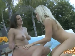 Boob loving slut Ashley Fires warms up her friend's irresistible enchanting meatballs