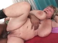 BBW granny in huge tits enjoying big black dick