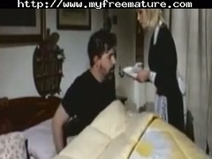 Horny italian spliced going relative to bed in front of the brush husband