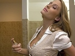 Long haired secretary bent over and fucked