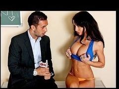 wrestling massive tits porn