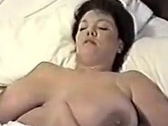 This homemade movie is a mix of hot movies I have taken of my huge-titted wife. You can watch her strip, give me blowjob, shave her cunt, masturbate during the time that I fuck her, play with sex toys and take a bath.
